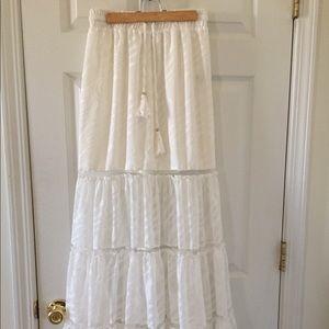 BEBE boho maxi skirt - like new, XS